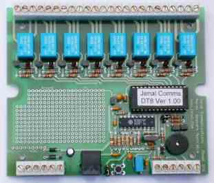 DTMF controlled relay unit